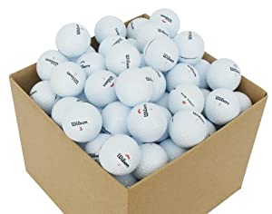 Second Chance Wilson 100 Quality Lake Golf Balls Grade A