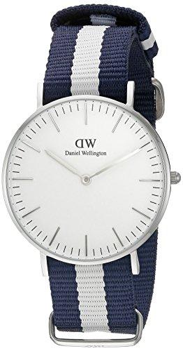 Daniel-Wellington-Damen-Armbanduhr-Analog-Quarz-Textil-DW00100047