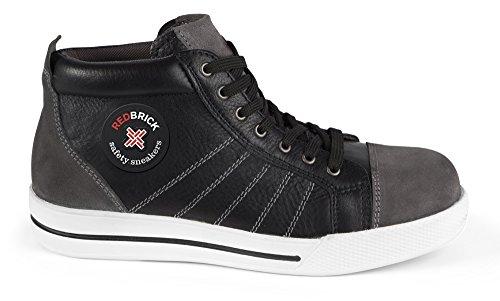 2W4-Sicherheitsschuhe-S3-sportlich-Sneaker-Chucks-Kappe-und-Sohle-42-schwarzgrau