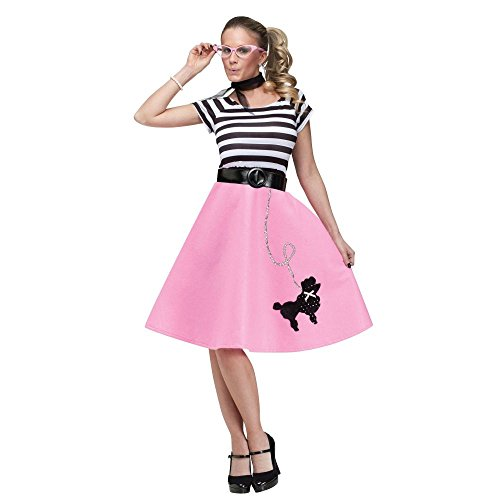 [Fun World  Women's 50's Poodle Dress - Small/Medium] (50s Costumes Women)