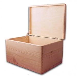 aufbewahrungsbox holzkiste mit deckel ohne griffl chern. Black Bedroom Furniture Sets. Home Design Ideas
