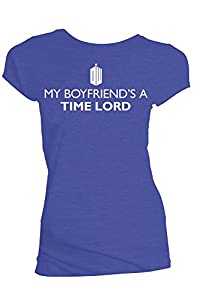 Doctor Who My Boyfriend's a Time Lord Juniors T-Shirt (Small)