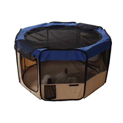 Ndp1010 M-Size Playpen Compatible With Pet Dog Cat Blue