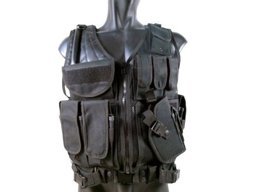 MetalTac Cross Draw Tactical Vest 9 Pockets