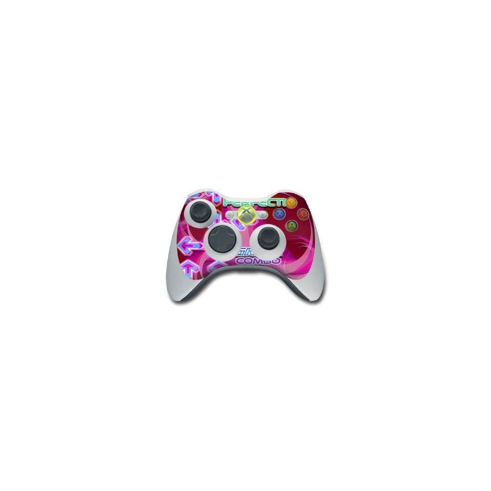 Dance Arcade Pink Design Skin Decal Sticker for the Xbox 360 Controller