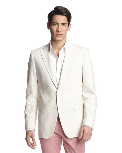 Simon Spurr Men's Solid Notch Lapel Sportcoat