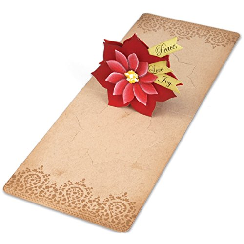 Sizzix Pop 'n Cuts Magnetic Insert Die - Flower, Poinsettia 3-D (Pop-Up) by Karen Burniston (Pop N Cuts Inserts compare prices)