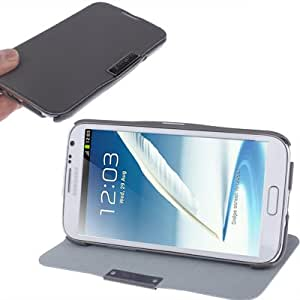 Magnetic Left and Right Open Leather Case with Holder for Samsung Galaxy Note 2 N7100 (Grey)