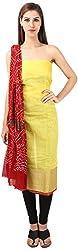 DESINER CLOTHLINE Women's Cotton Unstitched Dress Material (Cl-6, Yellow)