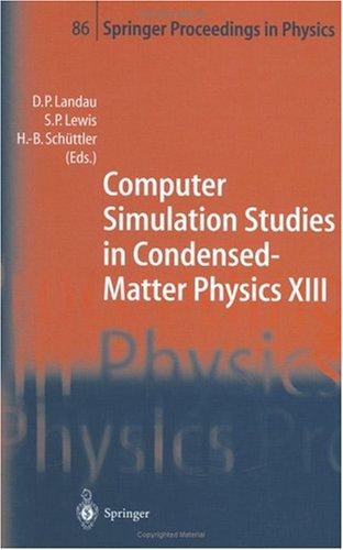 Computer Simulation Studies in Condensed-Matter
