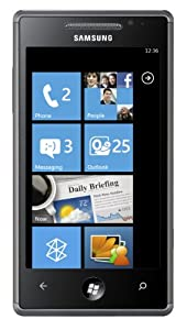Samsung Omnia 7 I8700 Smartphone (10,1 cm (4 Zoll) AMOLED Display, Touchscreen, 5 Megapixel Kamera, Windows Phone 7) schwarz