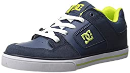 DC Pure SE Skate Shoe (Little Kid/Big Kid), Navy, 4.5 M US Big Kid