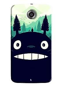 Blue Throat Monster Bonga Smiling Made Of Nature Printed Designer Back Cover For Motorola Google Nexus 6