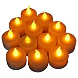 Lilys Home Battery operated Tealight Candles Flameless Set of 12pcs