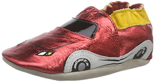RobeezRocar - Scarpine e pantofole primi passi  Bimbo 0-24 , Rosso (Rot (red 4)), 17/18