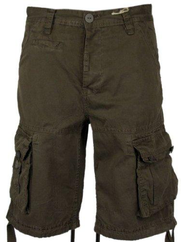Mens Cargo Shorts Tokyo Laundry Combats Stone, White