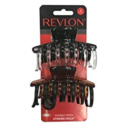 Revlon 2 Piece Hair Claw Clips, 0.18 Pound