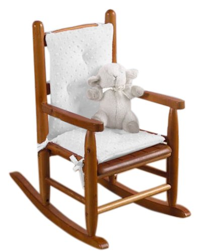 Imagen de Baby Doll Bedding Celestial Niño Soft Rocking Chair Pad, Blanco