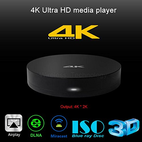 CHNILEX B4A 4K Ultra HD media player With Support Airplay DLNA Miracast 3D Blue-ray Movie Player 2G DDR 8G ROM+TP801 Touchpad Air Mouse