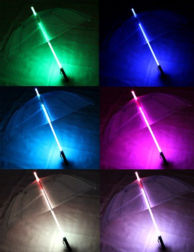 Transparent LED Umbrella Romantic Colorful Creative With Flashlight