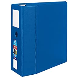 Avery  Heavy-Duty Binder with 5 Inch One Touch EZD Ring, Blue, 1 Binder (79896)