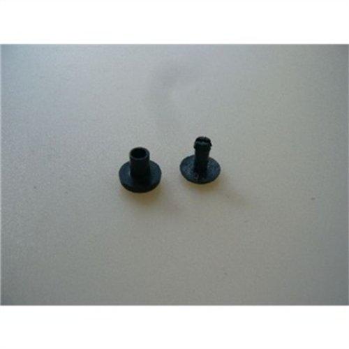 Oneal Ersatznieten für Combat Rückenprotektor, Farbe Schwarz, Größe One Size