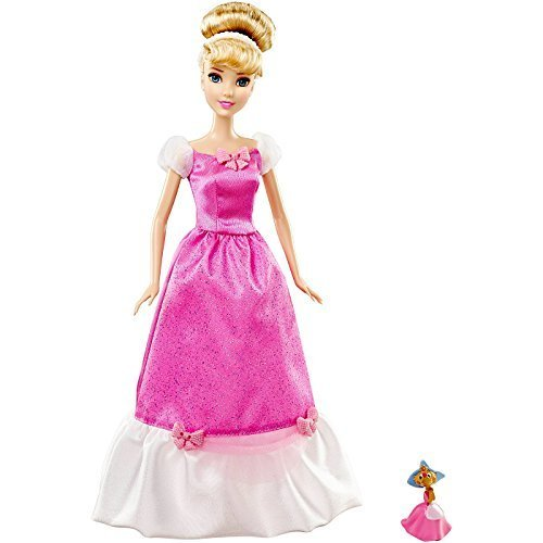 Disney Princess Cinderella Doll and Suzy Mouse Pink Exclusive Disney Princess Sparkle Doll Giftset