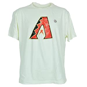 MLB Faded Distressed Arizona Diamondbacks Dbacks Beige Tee Authentic Tshirt by Red Jacket
