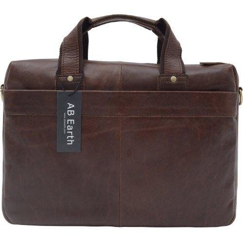 1ST SMALL Casual Vintage HANDMADE Leather Men's Briefcase Handbag ipad tablet Messenger Bag,M5