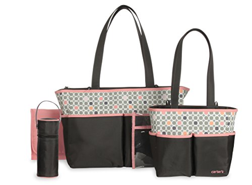 Carter's Diaper Bag Set, Grey/Pink - 1
