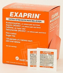 HART Health Exaprin Extra Strength Pain Reliever NSAID, 2 Tablets per Packet, 250 Tablets per Box