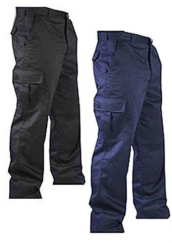 Pantaloni Cargo modello Combat, da lavoro, da uomo, misure: da 30 a 40 cm Nero  nero
