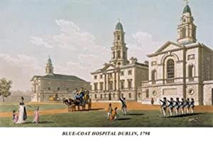 Blue-Coat Hospital Dublin 1798 12x18 Giclee on canvas