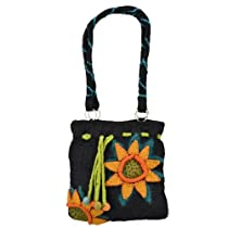 Felt Handbag 100% Wool Purse (Sunflower)