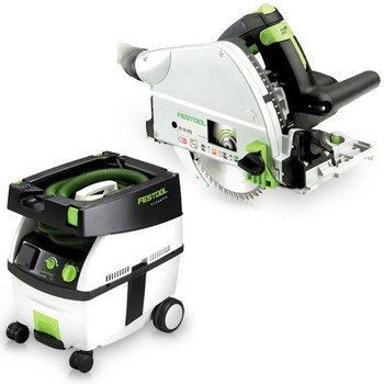 Festool Ts 55 Eq Plunge-Cut Saw With T-Loc Plus Ct Midi Dust Extractor Package