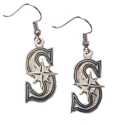 MLB Seattle Mariners Logo Dangler Earrings at Amazon.com