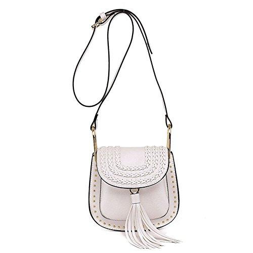Easy Love Donna Borse Tessere, Moda Rivet Shoulder Messenger Bag, Borsa Con Frange