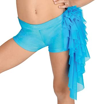 Child Mesh Ruffle Dance Shorts,N7082C