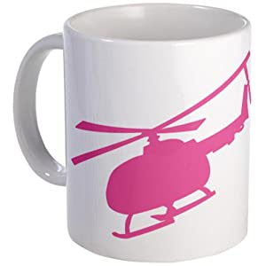 Pink Helicopter Mug Mug by CafePress