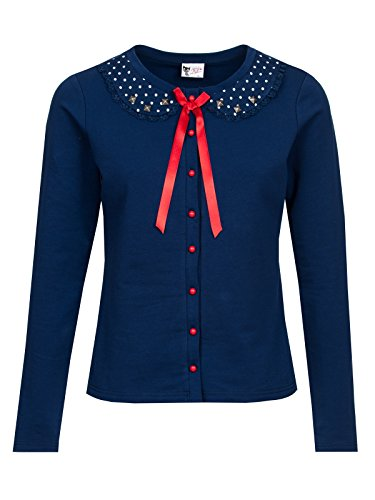 Pussy Deluxe Lovely Marine Cardigan donna blu navy XS
