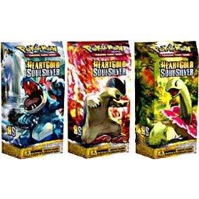 Pokemon Cards - Heart Gold Soul Silver - Theme Decks ( Set of 3 ) ( Feraligat...