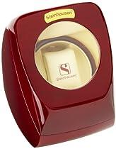 Steinhausen SM515E Executive Single Watch 4-mode Timer Bidirectional Winding Cherrywood Watch Case
