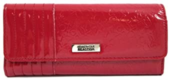 Kenneth Cole Reaction Red Patent Logo Tri Me A River Wallet
