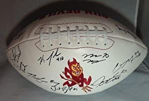 2011 ARIZONA STATE DEVILS team signed FOOTBALL W COA 1 - Autographed Footballs by Sports+Memorabilia
