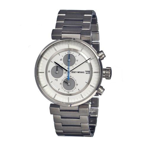 Issey Miyake ISSSILAY007 - Reloj de pulsera hombre, acero inoxidable, color plateado