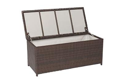 MERXX Kissenbox aus Stahl- und Kunststoffgeflecht in Rattan Optik von MERXX bei Gartenmöbel von Du und Dein Garten