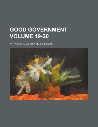 Good government Volume 19-20