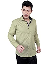 Zeal 100% Cotton Olive-Dark Blue Casual-Formal Shirt