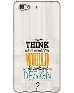 Hugo Gionee S6 Back Cover Hard Case Printed Designer Multicolour