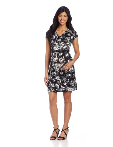 Three Seasons Maternity Women's Drape Neck Dress